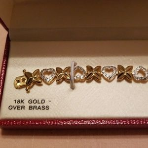Jewelry - 💕💎 SILVER  & GOLD DIAMOND💎 ACCENT BRACELET